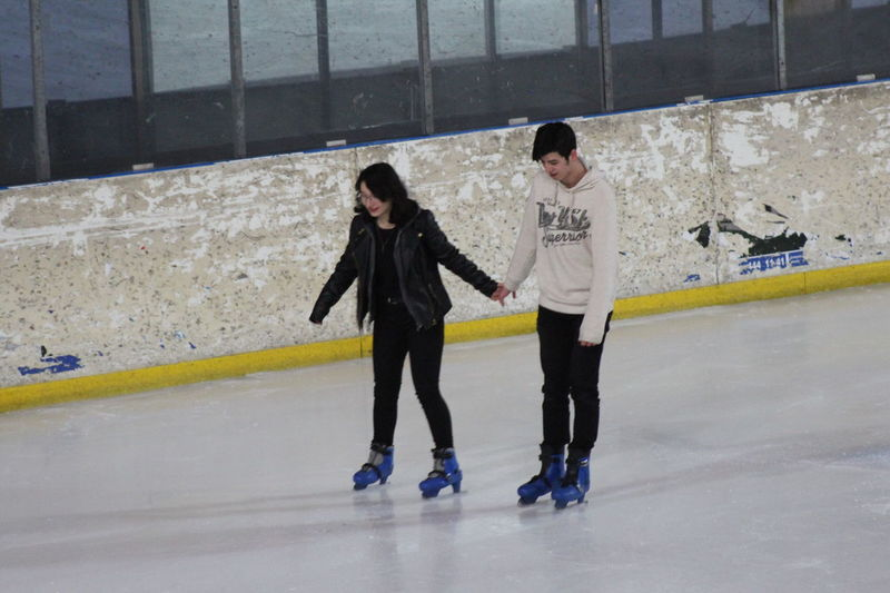 Ice Skate Olimpic Stadium Ice Rink Love Two People Full Length Togetherness Walking Young Adult Lifestyles Young Women Adults Only Day Outdoors People Real People Friendship Adult No Edit/no Filter Eyem Gallery First Eyeem Photo EyeEm Best Shots Canon Eos 1200d SK Fotografii😊