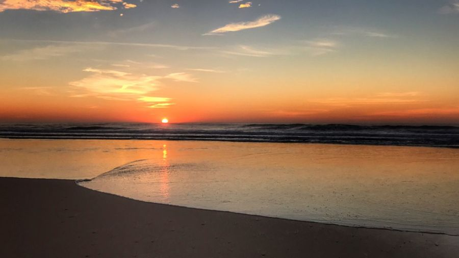 Bye bye Sea Sunset Beach Water Nature Sky Beauty In Nature Scenics Horizon Over Water Orange Color Tranquil Scene Sand Shore Tranquility Sun Outdoors No People Cloud - Sky Picooftheday Picoftheday EyeEmBestPics Photooftheday Lovely Beautiful Beauty In Nature