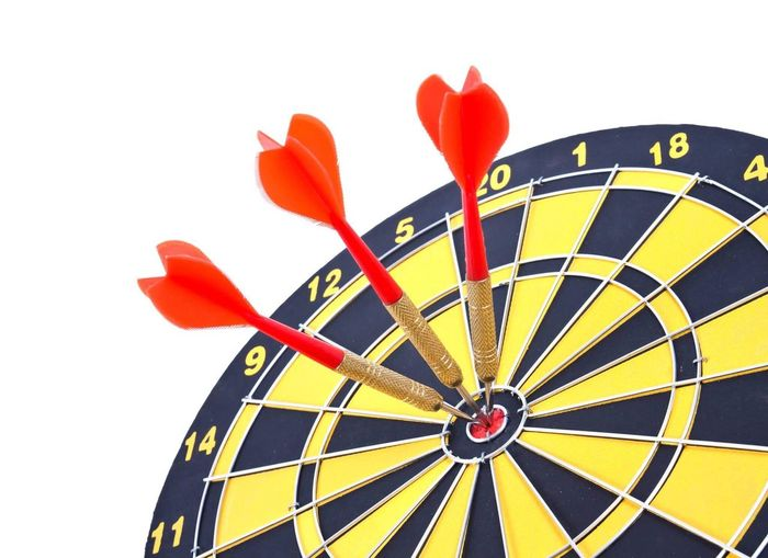 Dartboard Concept Target Sports Target Strategy Sport White Background