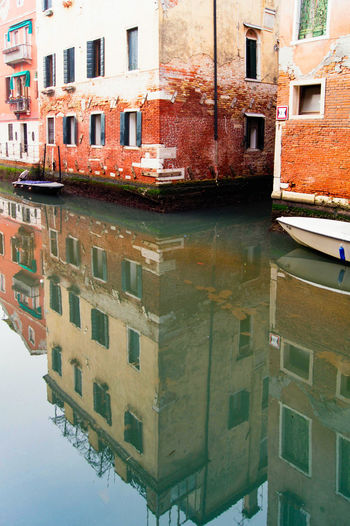 Venetian Reflection Venice, Italy Architecture Building Building Exterior Built Structure Canal City Day No People Outdoors Reflection Residential Building Sky Water Waterfront Window