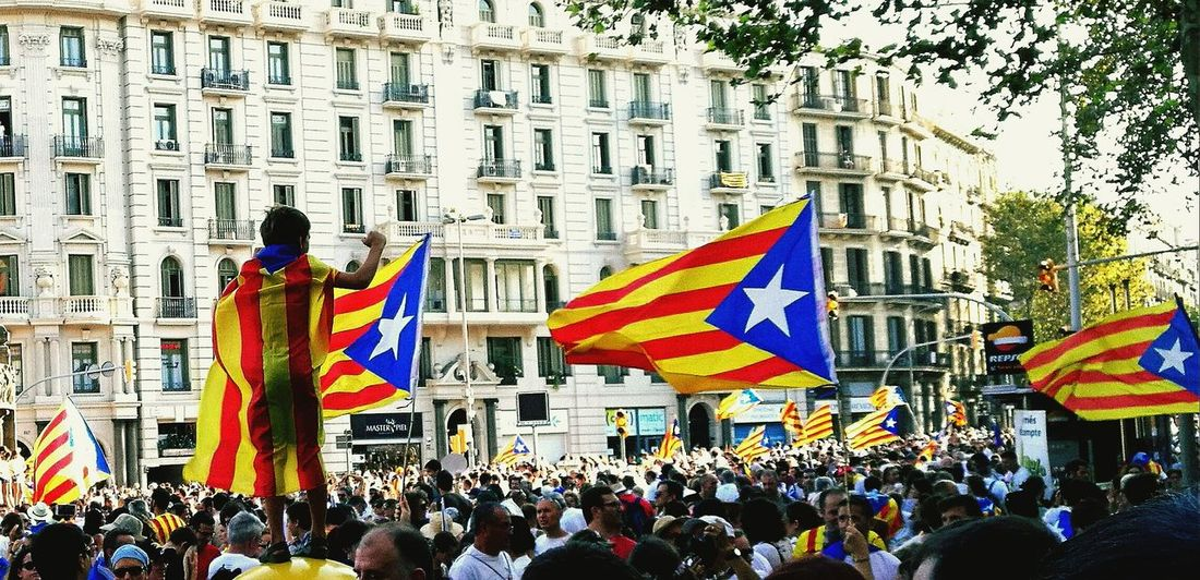 The people's voice! Catalonia Is Not Spain Catalonia Catalunya Independencia Diada 11S2016