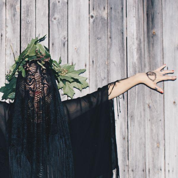 TheWeekOnEyeEM Fine Art Photography Portrait Lace Crown Wall Mysterious
