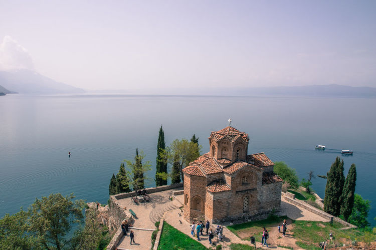 Everyone can find peace here Architecture Beauty In Nature Building Exterior EyeEm Gallery High Angle View History Horizon Over Water Nature Ohrid Outdoors Peace Place Of Worship Religion Scenics Sky Spirituality Tranquility Travel Destinations Water