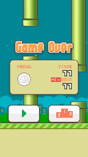 Flappybird I just did :)) Gamer Chick