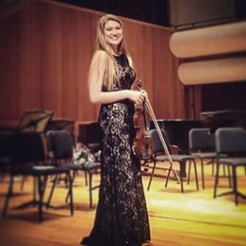"""My beautiful, talented, loving and amazing not so """"little"""" sister. I am so proud of you! @rachelhollis97 Violinist Music Classical Classicalviolin Ypas the Senior Classof2016"""