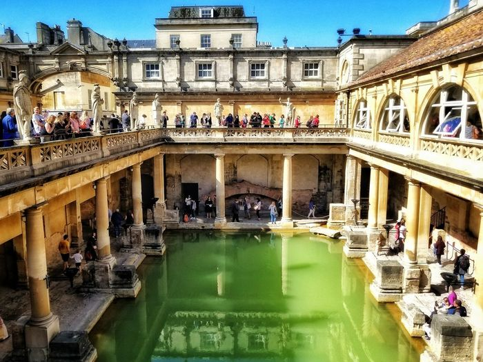 Architecture Built Structure Travel Destinations History Statue Roman Bath Bath England Bath City United Kingdom
