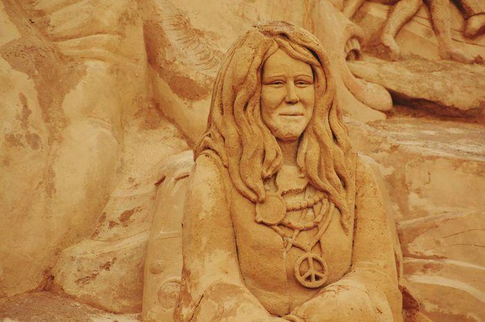 Sand Sand Sculpture Park Sculpture Sand Sculptures Sand Sculpture Art Imagination No People Human Representation Janis Joplin