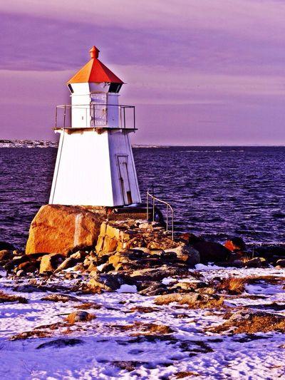 The Lighthouse At Brattestø, Hvaler, Norway