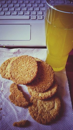 Healthy before studying Digestive Biscuits And green apples Juice