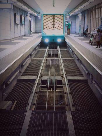 Funiculaire  Lyon Vieux Lyon  Subway Urban Geometry Geometricity Symmetry