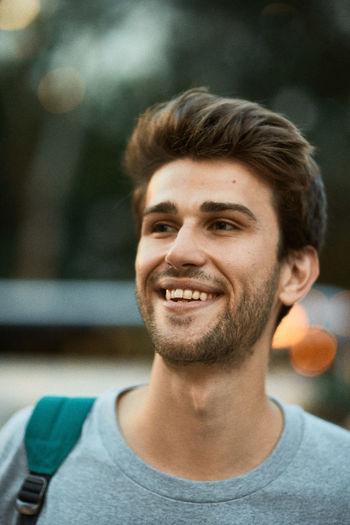 Portrait of a smiling young man
