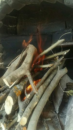 Burn Wood Red