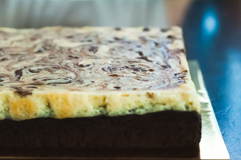 Marble cake cheese brownies. Food And Drink Dessert Food Sweet Food Sweet Ready-to-eat Cake Freshness Indulgence Still Life Close-up Temptation Indoors  Baked Unhealthy Eating No People Selective Focus Table Focus On Foreground SLICE Tray Snack