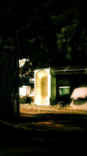 Bathtub Side Of Road Side Of The Road Street Road Next To The Road Next To The Street Near Street Near Road Bath Tub Still Life Yard Appliance Plumbing Outside Outdoors Found Objects Dark Darkness Darkness And Light Green Tub Jacuzzi  Thrown Out Side