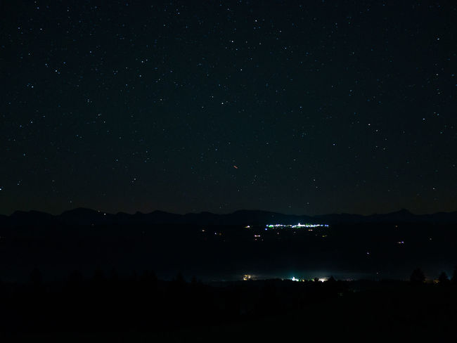 Night Sky Scenics - Nature Star - Space Beauty In Nature No People Nature Tranquility Space Astronomy Tranquil Scene Silhouette Illuminated Mountain Outdoors Idyllic Dark Environment Landscape Star