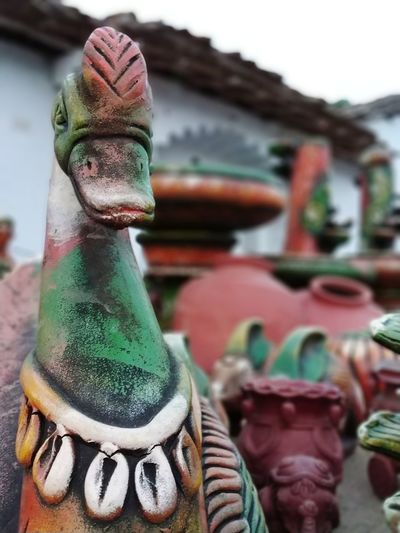 #Duck  #DuckFace  #clay #handicraft Close-up Figurine  Sculpture Sculpted Statue Carving - Craft Product