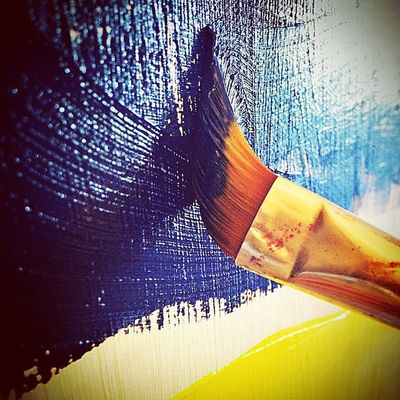 Put Some Bach piano. Take a glass of White Wine. Then, let's reach Your art. Because Art is Everything. Painting