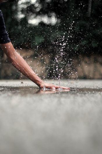 Splash Kuala Lumpur Malaysia Water Human Body Part One Person Nature Body Part Splashing Human Hand Hand Wet Motion Outdoors Rain My Best Photo