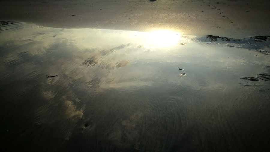 Reflection at the beach Beachphotography Sea And Sky Seascape Sandy Beach Seaside Sunrise_sunsets_aroundworld Sea Kuantan Swiss Garden Hotel Water Sunset Sky