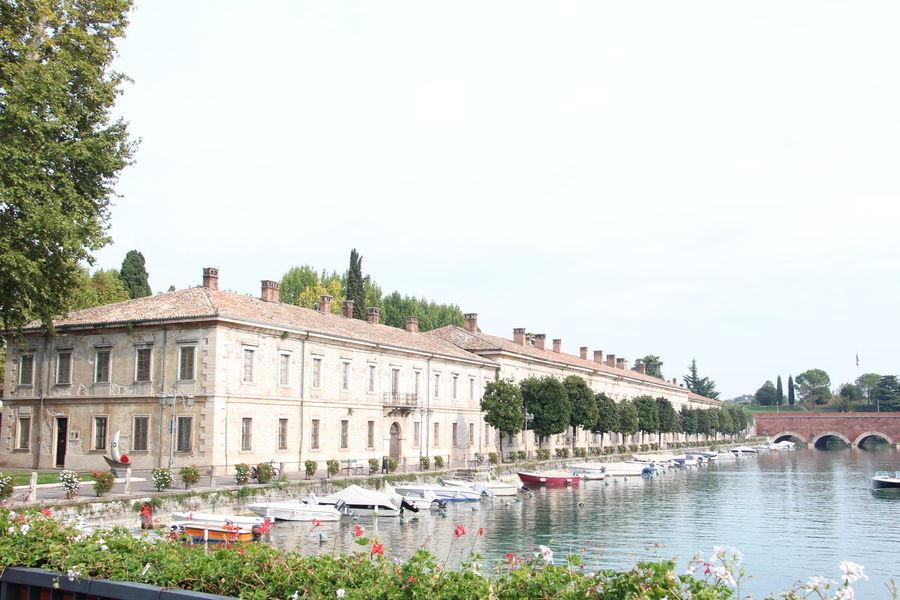 Flower Italy Lake Non-urban Scene Palace Peschiera Del Garda Water WOW