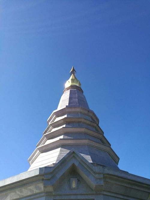 Blue Built Structure Clear Sky Outdoors No People Architecture Day Sky Travel chiangmai Thailand Temple North