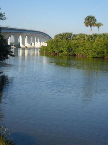 Bridge Expansion Bridge Florida Indian River Islands Vero Beach Fl Landscapes With WhiteWall