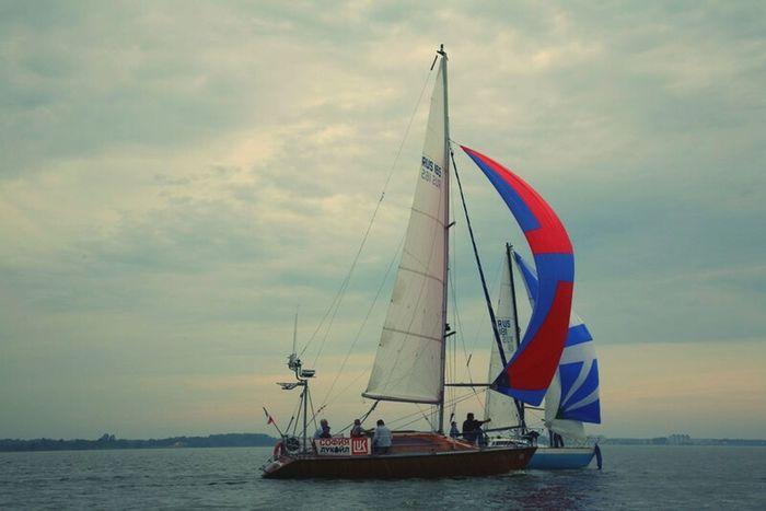 Sail Nautical Vessel Sport Outdoors Sea Sailing Sky Day Aquatic Sport Adventure Recreational Boat Water No People sea No Love </3 Beach Coastline Soultravelers Scenics Tranquility Travel Destinations