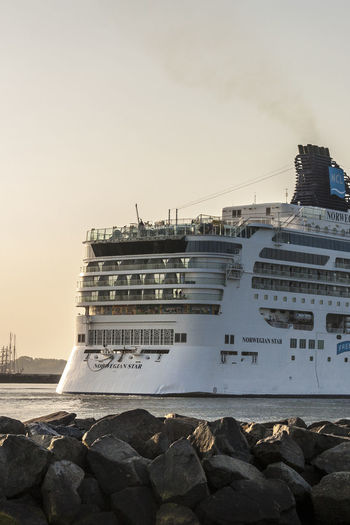 Building Exterior Cruise Ship Early Bird Early In The Morning Entering The Harbor Mode Of Transport Nautical Vessel Norwegian Star Outdoors Ship Travel