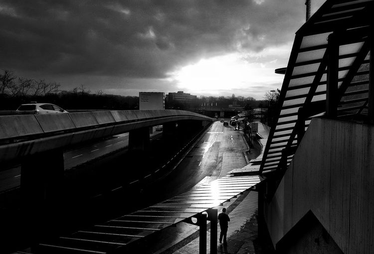 Airport Tegel AntiM Architecture Berlin Photography Berliner Ansichten Blackandwhite Built Structure Cloud - Sky Day Nature No People Outdoors Railing Sky Water