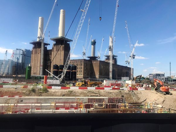 Sky Architecture Day Built Structure Building Exterior Outdoors No People Nautical Vessel Wind Power Wind Turbine Traditional Windmill Windmill City Battersea Power Station Battersea London