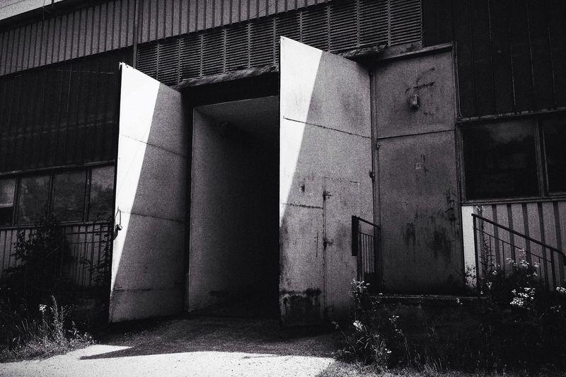 Black & White Urban Industrial Taking Photos