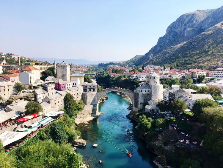 Stari Most - Climbing a Minaret to see this great Mostar Bridge View Architecture Mountain Travel Destinations Mostar Bosnia Mostar Old Town The Week On EyeEm