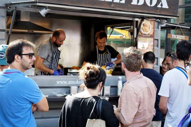 Barcelona La Merce Ciutadella Foodtruck España Men Vanvanmarket Vanvan Hamburger