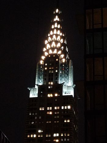 Chrysler Chrysler Building Night Illuminated Built Structure Building Exterior No People Architecture Outdoors Nice Ynot Wow!!😋 City