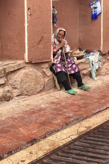 Peasant Abyaneh Muddyvilage Staring