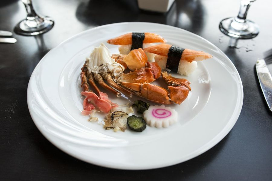 Close-up Crab Focus On Foreground Food Indulgence Meal Plate Ready-to-eat Selective Focus Served Serving Size Still Life Sushi Temptation