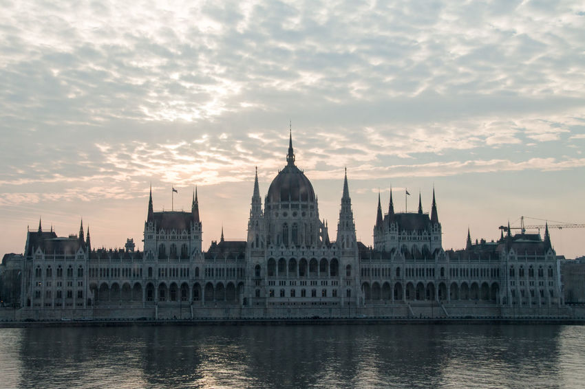 Architecture Budapest, Hungary Building Exterior Built Structure City Cloud - Sky Day Dome Government History Hungarian Parliament Hungarian Parliament Building No People Outdoors Parliament Building River Sky Sunset Travel Destinations Water Waterfront