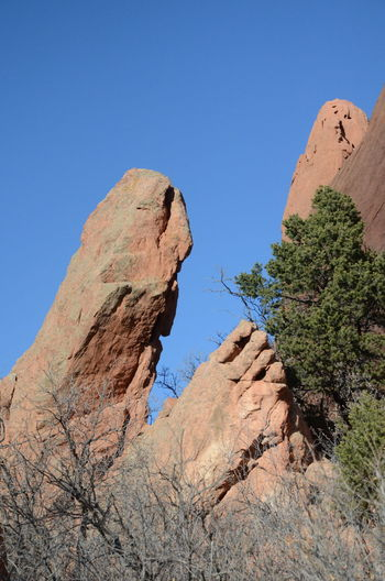 Rock Rock - Object Rock Formation Sky Solid Scenics - Nature Beauty In Nature Nature Plant Clear Sky Tranquil Scene Physical Geography Tranquility Blue Mountain No People Non-urban Scene Travel Destinations Tree Day Climate Arid Climate Eroded Outdoors Formation