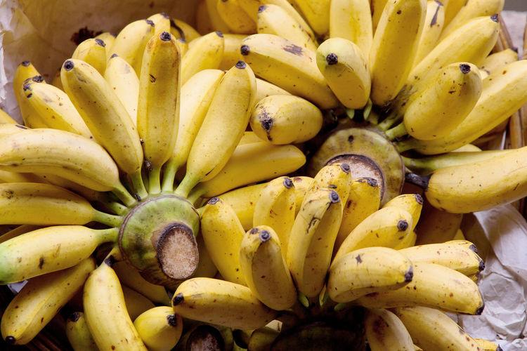 Close-Up Of Banana Bunches