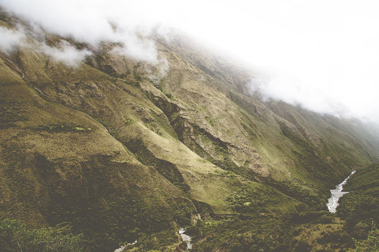 Peruvian Andes. Mountain Beauty In Nature Scenics - Nature Non-urban Scene Environment Nature No People Landscape Mountain Range Day Tranquil Scene Tranquility Land Cloud - Sky Remote Fog Outdoors Travel Aerial View Peru