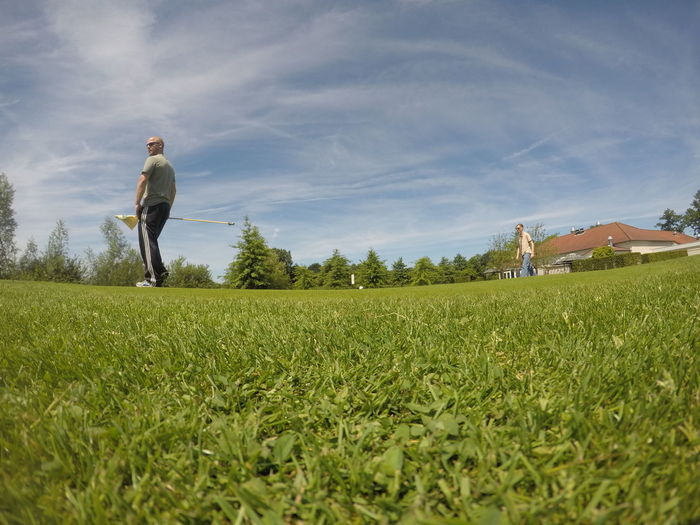 Only Men Field People Grass Sky 18 Holes Course Golfcourse Goprooftheday Gopromoment Goprophotography GoPro Hero 5 Black On The Course Playing Golf Competition Playing Field EyeEm Selects Photography Sommergefühle Golf Club Cloud - Sky Steeling The Flag😂 No Edit/no Filter Golf Course Friends Two People