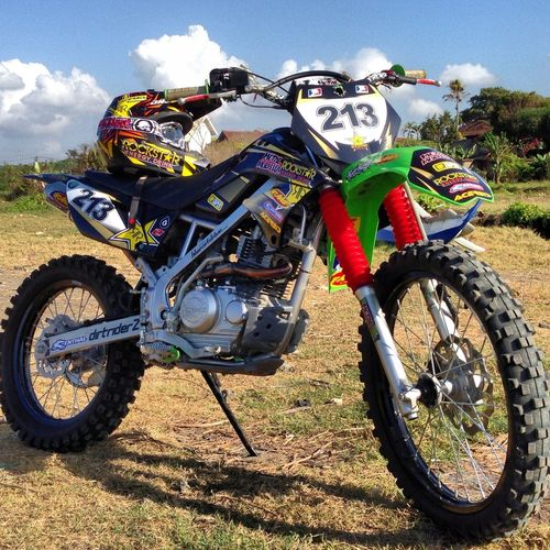 new decal Photo Motocross Dirtbike Kawasaki