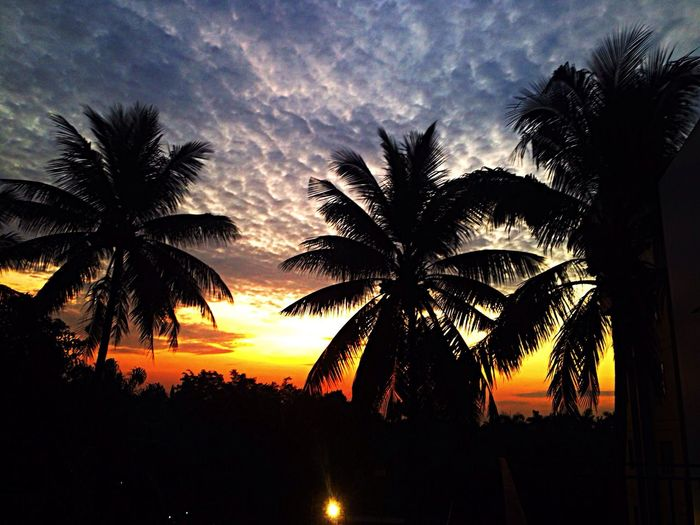 Sunset Silhouettes Clouds And Sky Jakarta Hello World