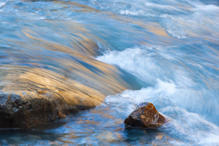 Stones in the flowing river