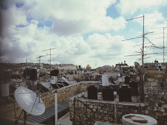 Old Town Roof Rooftop Rooftop View  Panoramic View Over The Roofs Looking To The Other Side Old Buildings Oldtown Middle East Cityscape cityscapes Bird Sky Animal Themes Cloud - Sky Building Residential Structure