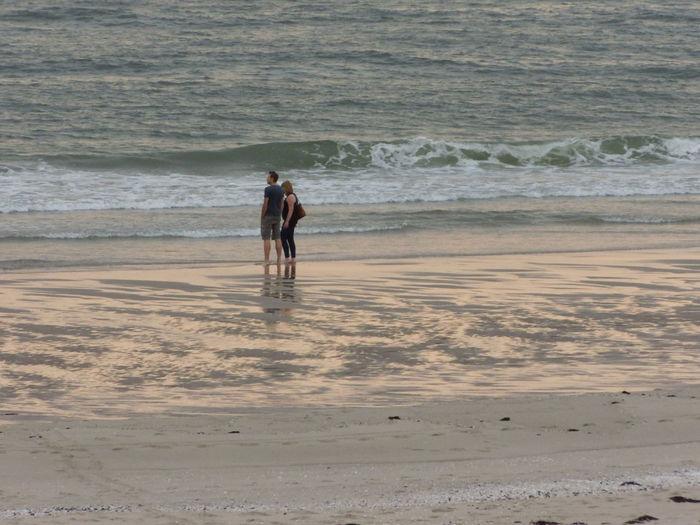 Couple on a beach. Beach Couple Family Netherlands Beachlife Beautyofbeach Sealife Seashore Enjoyingtheviewofthebeach People And Places Human Connection