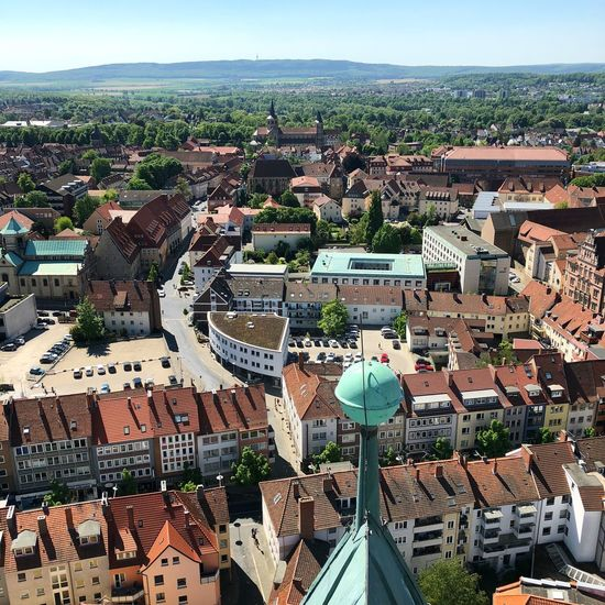 From Above  Hildesheim Rooftop View Aerial View Architecture City Cityscape Day Germany Lower Saxony Mountains Town
