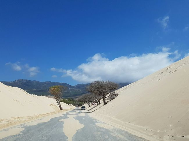 Road Landscape Tranquil Scene Sky Non-urban Scene The Way Forward Dunes Tarifa Tarifa Spain