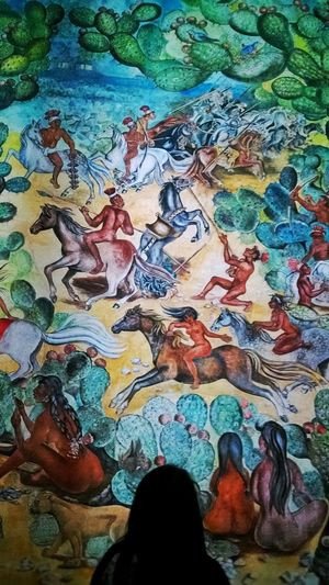 """La Conquista"" Aguascalientes Mexico Murales"