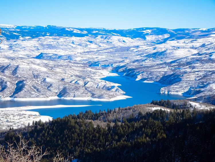 Beauty In Nature Blue Cold Temperature Day Deer Creek Reservoir Heber Hebervalley Landscape Mountain Nature No People Outdoors Scenics Skiing Sky Snow Sundance Mountain Resort Utah Winter Landscape